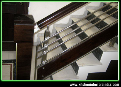 Upstair Railings Home Up Stair Railings Suppliers Punjab Steel Railings Wooden Railings