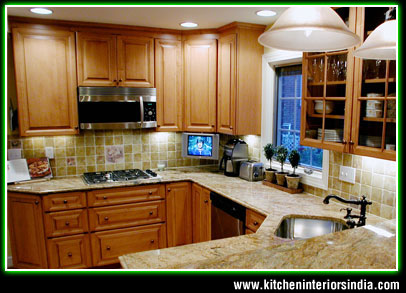 Superieur Wooden Kitchen Interiors In Punjab India ...