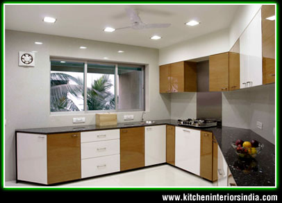 Wooden Kitchen Interiors in Punjab India ...